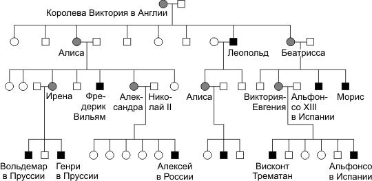 Наследование гемофилии