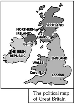 the political map of Great Britain