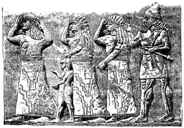 Иудейские пленницы (с ассирийского памятника)