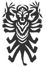 Чи Ю - мифическое существо с головой быка и крыльями