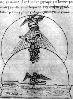 Первый день творения. Из Кэдмоновской рукописи, ок. 1000 г.