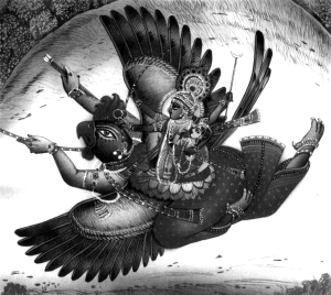 Гаруда и Вишну