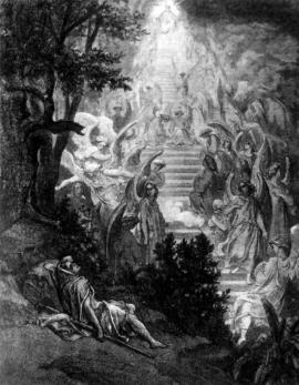 Гюстав Доре. Видение во сне Иаковым лестницы