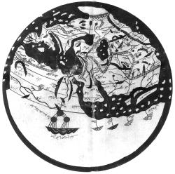 Известный арабам мир на географический карте XII столетия