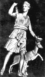 Артемида Версальская. Круг Лиохара. Римская копия