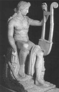 Аполлон, играющий на кифаре.