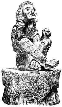 Каменная статуя ацтекского бога, покровителя цветов