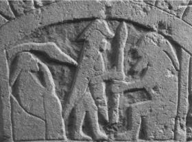 Изображение трех божеств: Одина, Тора и Фрейра.
