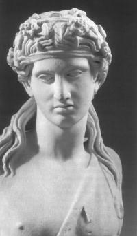 Мраморный бюст Диониса. Римская копия с греческого оригинала Праксителя