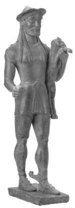 Бронзовая статуя Гермеса в греческом исполнении. VI в. до н.э.
