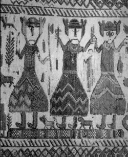 Один, Тор и Фрейр. Фрагмент гобелена. Швеция, XII в.
