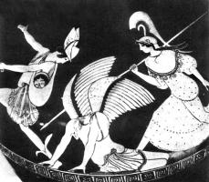 Персей обезглавливает горгону Медузу