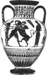 Геракл и Немейский лев.