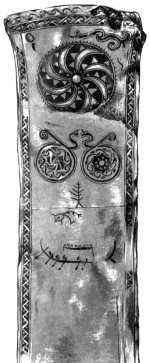 Памятный камень с острова Готланд с изображением «миров» древних германцев.