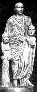 Римлянин с бюстами своих предков.