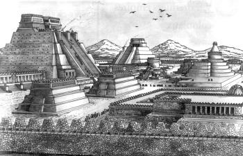 Теночтитлан - столица ацтеков.