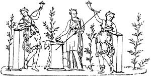 Богиня Веста и лары