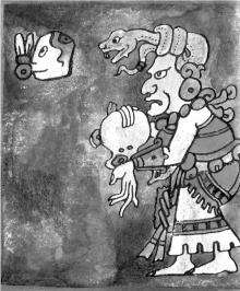 Фрагмент кодекса с изображением Владыки небес.