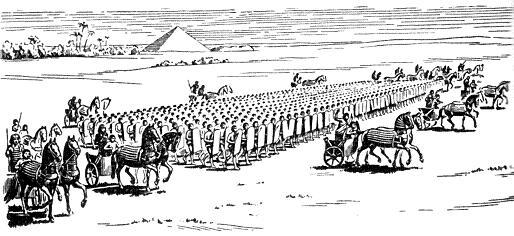 Египетский отряд Пта в бою