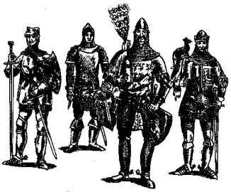 Рыцари XIVв.