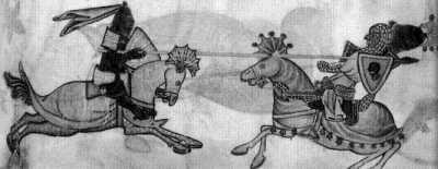 Поединок христианского рыцаря с мусульманским воином