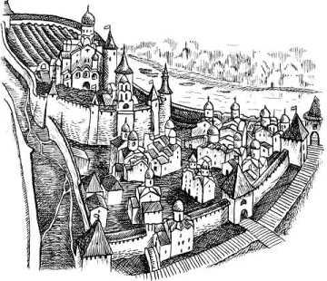 Псков. Вид на Кром и Довмонтов город