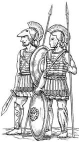 Спартанцы-гоплиты