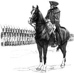 ФридрихII перед строем гренадеров