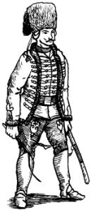 Рядовой Грузинского гусарского полка русской армии. 1758г.
