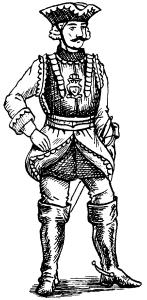Офицер кирасирского полка русской армии. 1758 г.