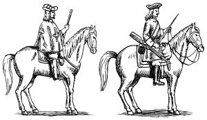 Королевский мушкетер и карабинер французкой армии