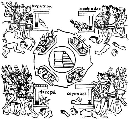 Испанцы наступают на Теночтитлан