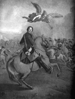 Петр в Полтавском бою.
