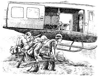 """Американские """"джи-ай"""" во время высадки вертолетного десанта в Южном Вьетнаме"""